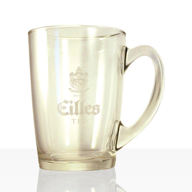 EILLES Tee Becher aus Glas mit Logo