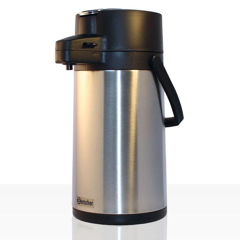 Bartscher Edelstahl-Isolierpumpkanne Aurora 22, Pumpkanne 1,9 Liter