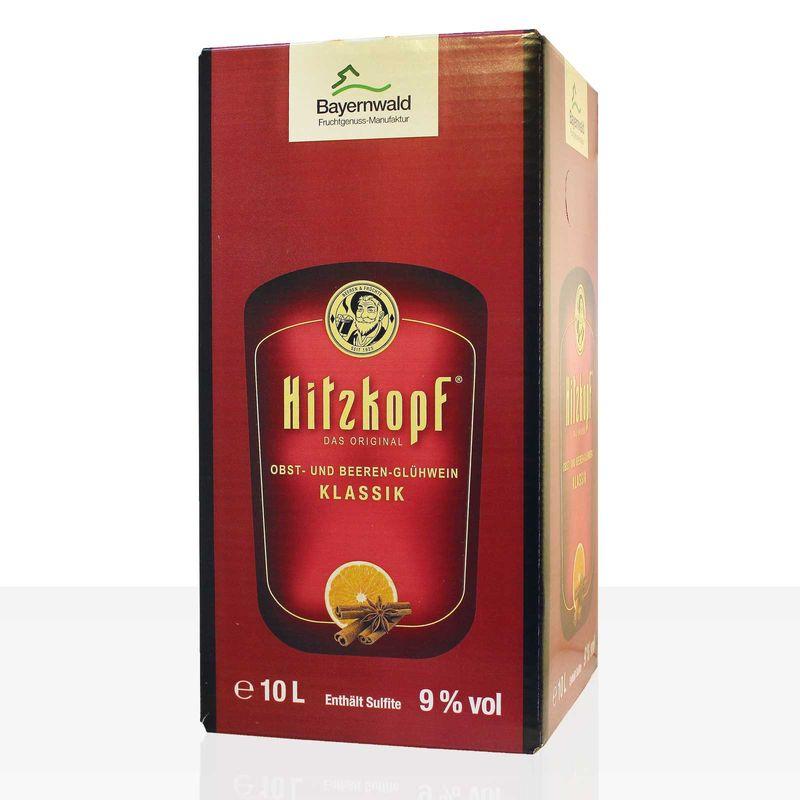 Bavaria Waldfrucht Hitzkopf Glühwein Klassik 10 Liter, würzig aus Beerenwein, Punsch Bag in Box