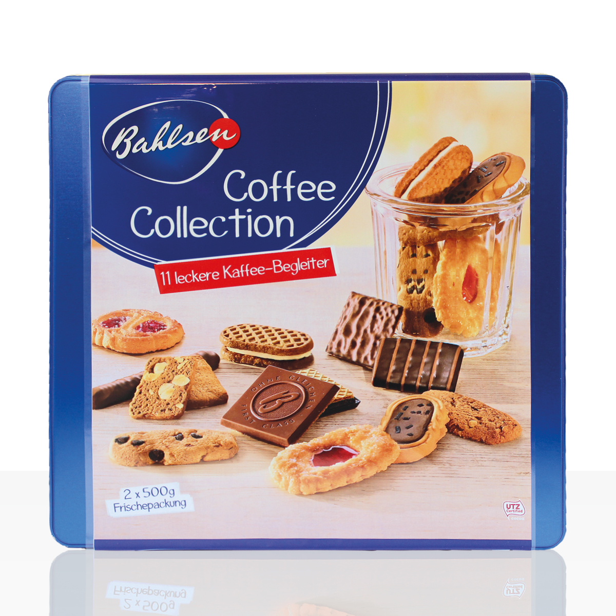 Sale - Bahlsen Coffee Collection Gebäck-Dose, 2 x 500g mit 11 Sorten - kurzes MHD
