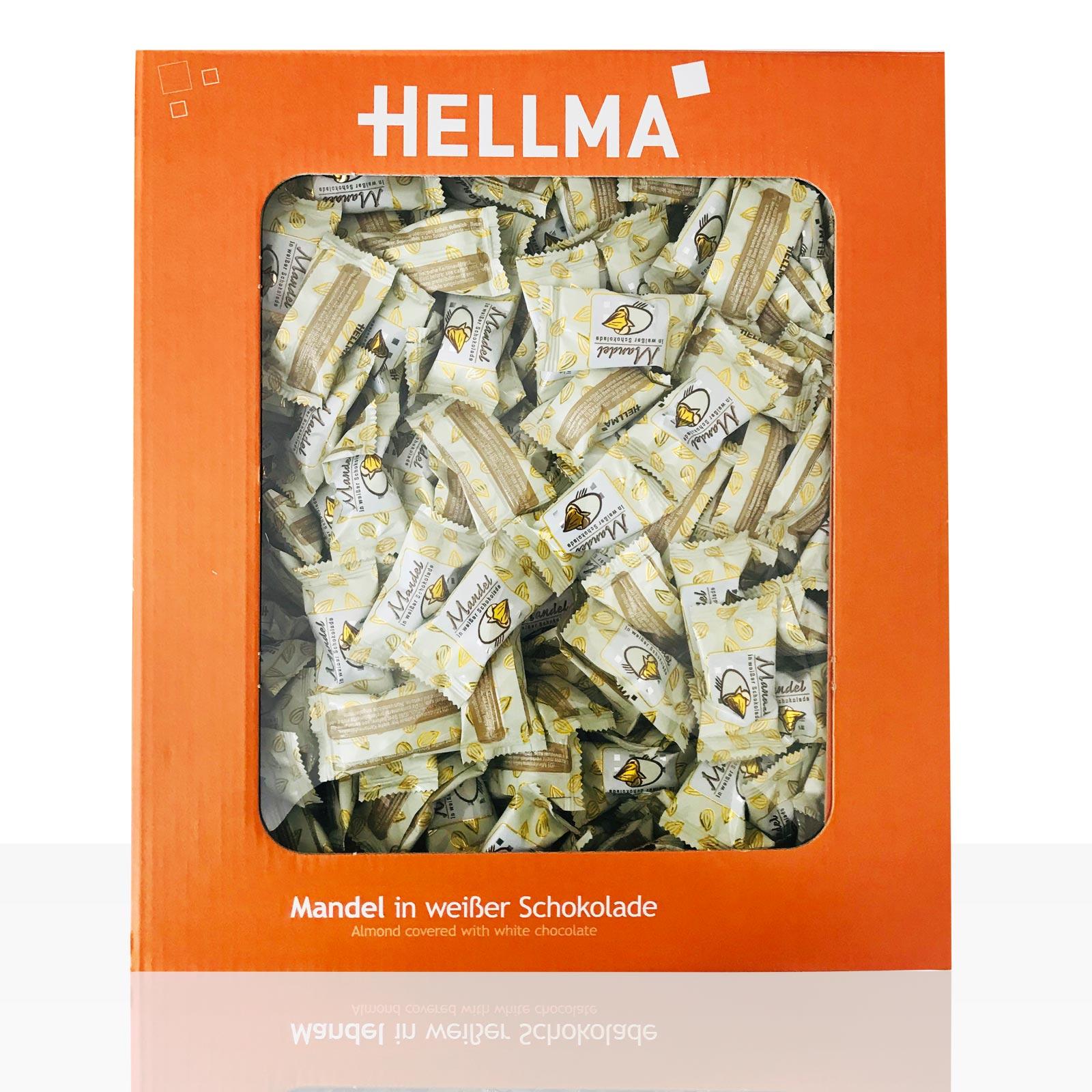 Hellma Mandel in weißer Schokolade ca. 360 Portionen