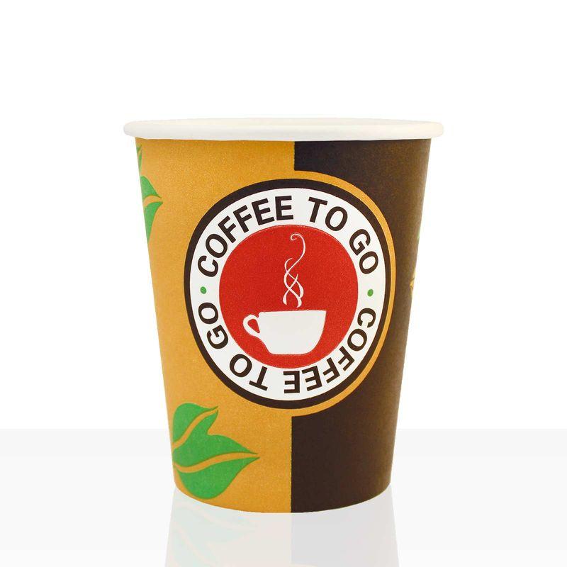 Coffee to go Becher aus Hartpapier 0,2l, 100Stk, Pappbecher, Kaffeebecher to go