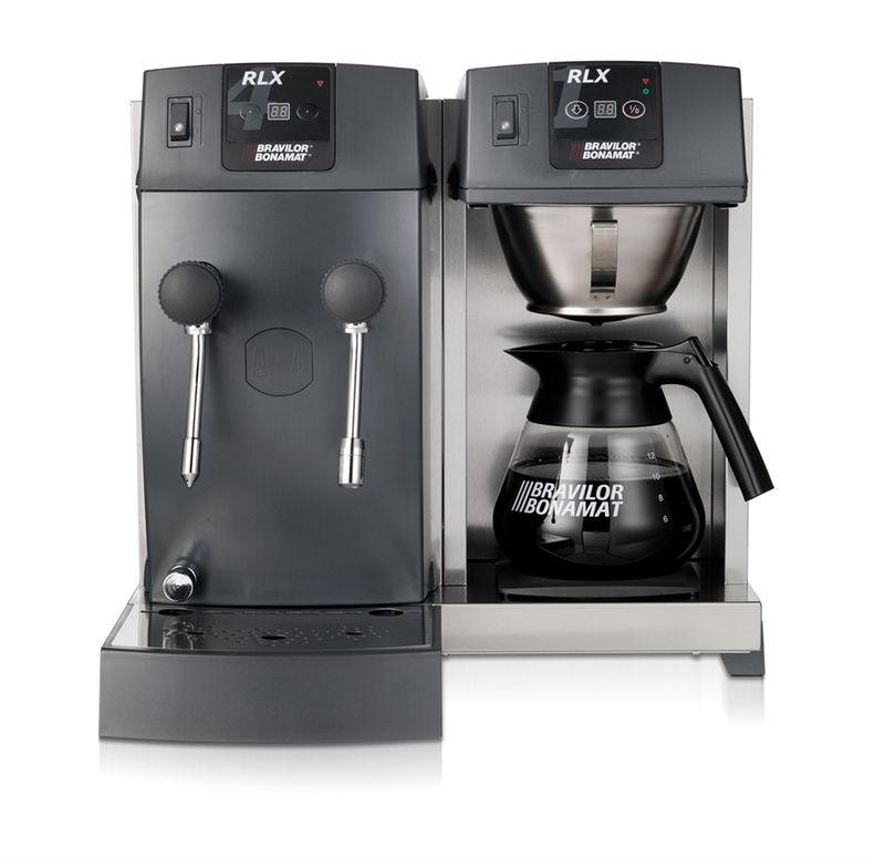 Bonamat Kaffeemaschine RLX 41 mit Glaskanne, 1 Kaffeebrühsystem, 1 Warmhalteplatte, Heißwasser und Heißwasserdampf 230V – Bild 1