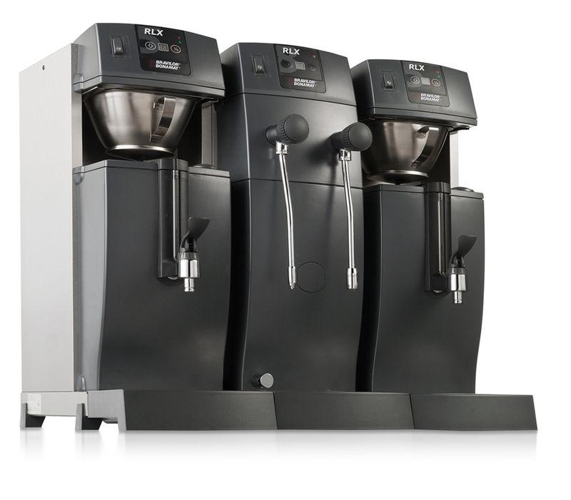Bonamat Kaffeemaschine RLX 585 mit 2 Kaffeebrühsystemen, 2 Behältern mit Schauglas, Heißwasser und Heißwasserdampf  – Bild 5