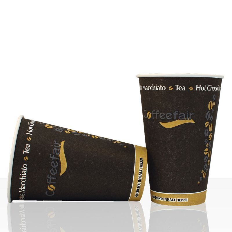 Coffee to go Becher von Coffeefair Hartpapier 0,3l, 50Stk, Pappbecher, Kaffeebecher to go