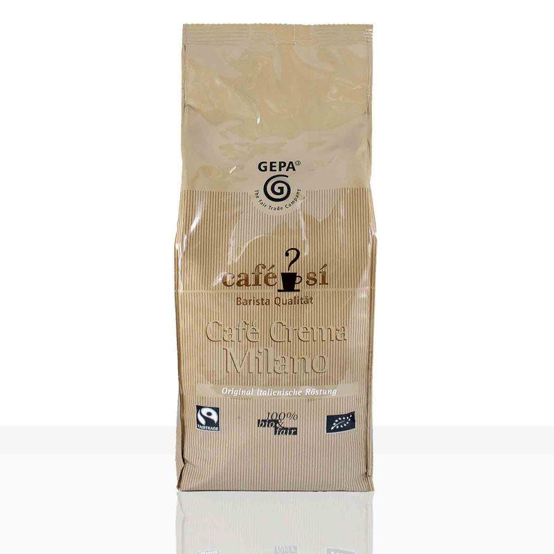 Gepa Cafe Si Cafe Crema Milano Fairtrade Kaffee - 4 x 1kg ganze Kaffee-Bohne
