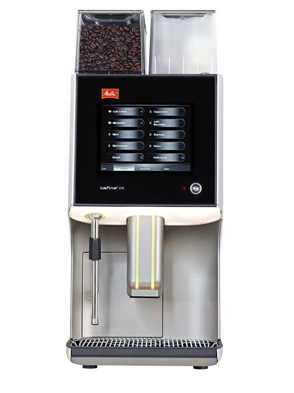 Melitta Cafina XT6 Kaffeevollautomat, 2 Mühlen, Schoko und Milchschäumersystem