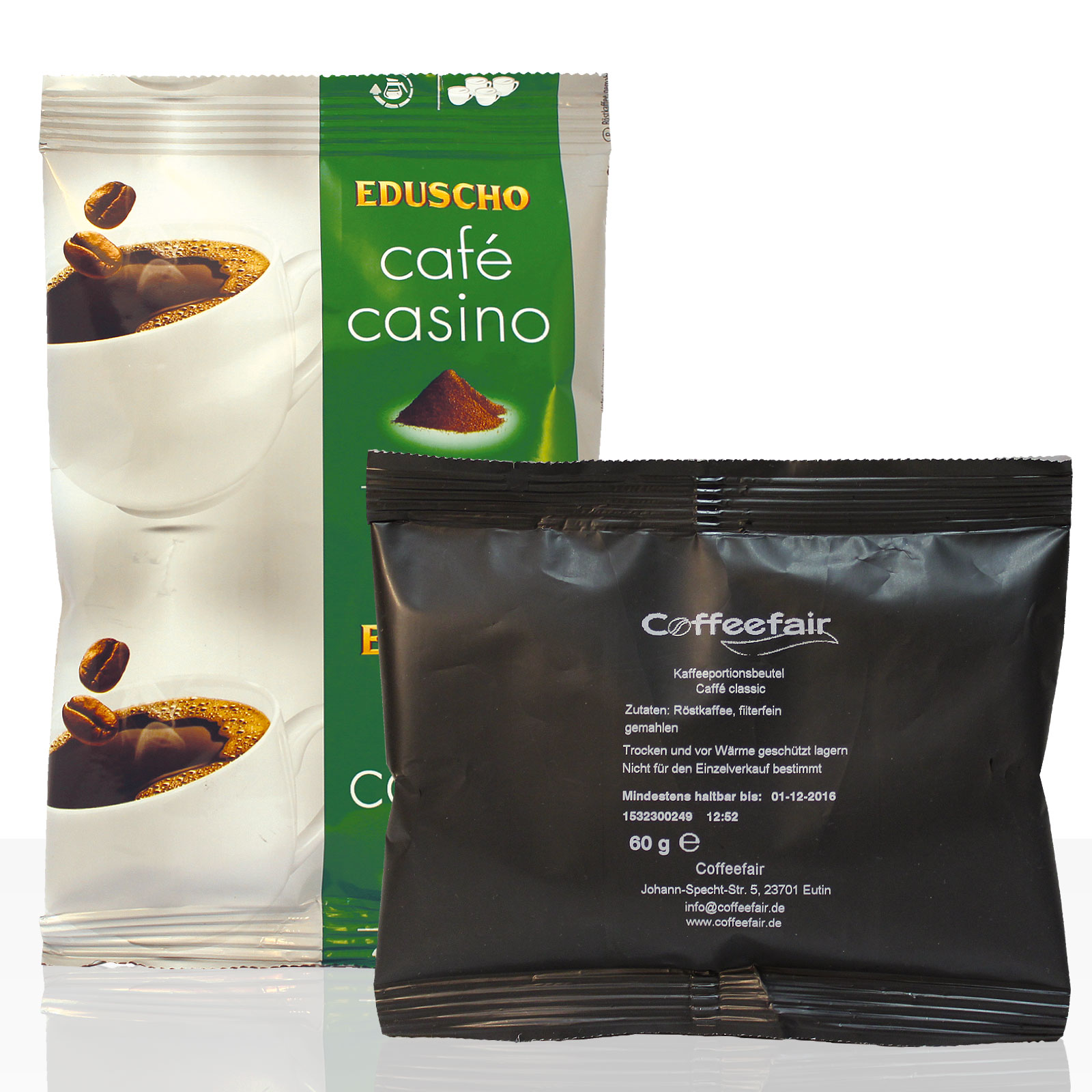 Tchibo / Eduscho Cafe Casino Plus 80 x 60g + Coffeefair Filterkaffee 10 x 60g