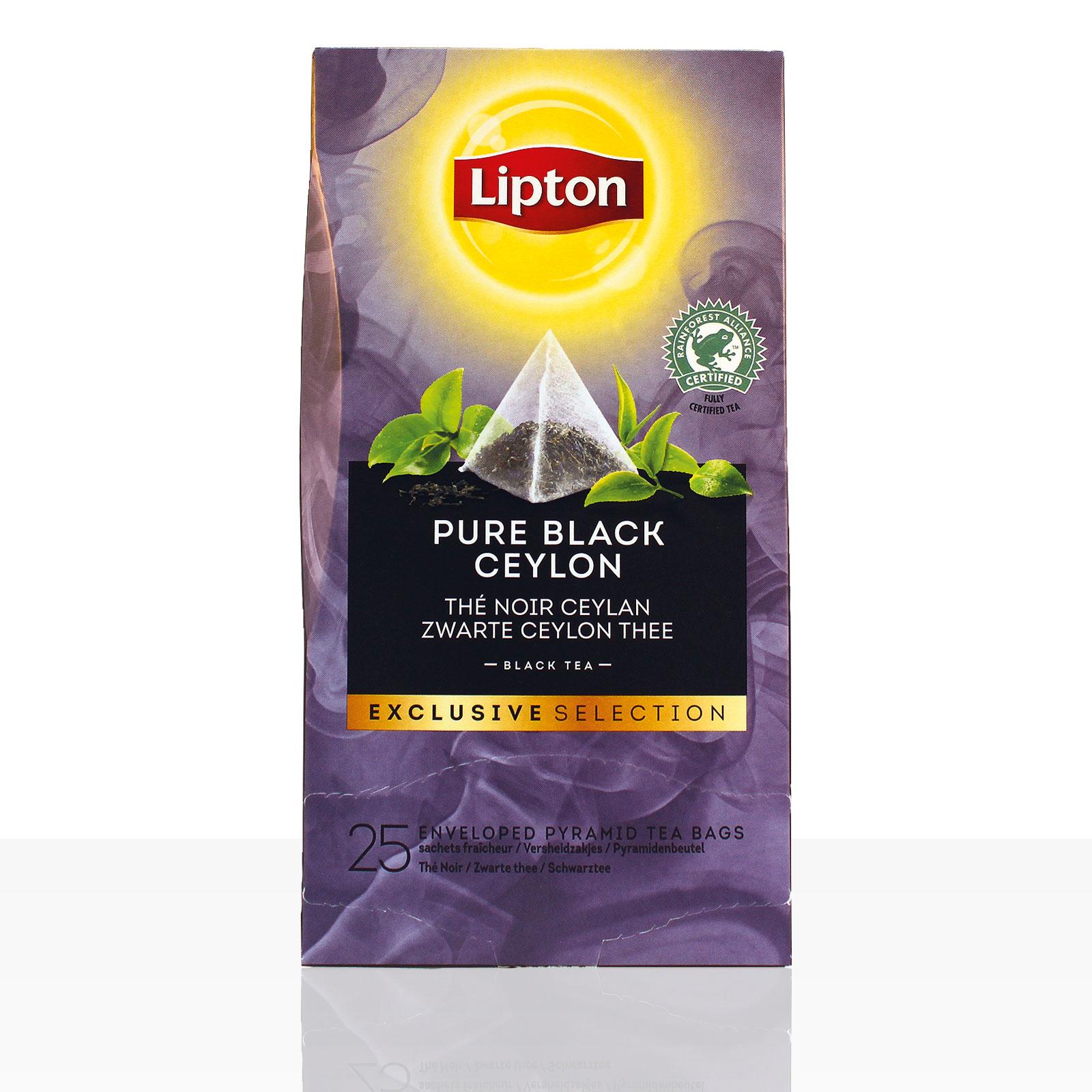 Lipton Tee Exclusive Selection Pure Black Ceylon 6 x 25 Beutel á 0,9g