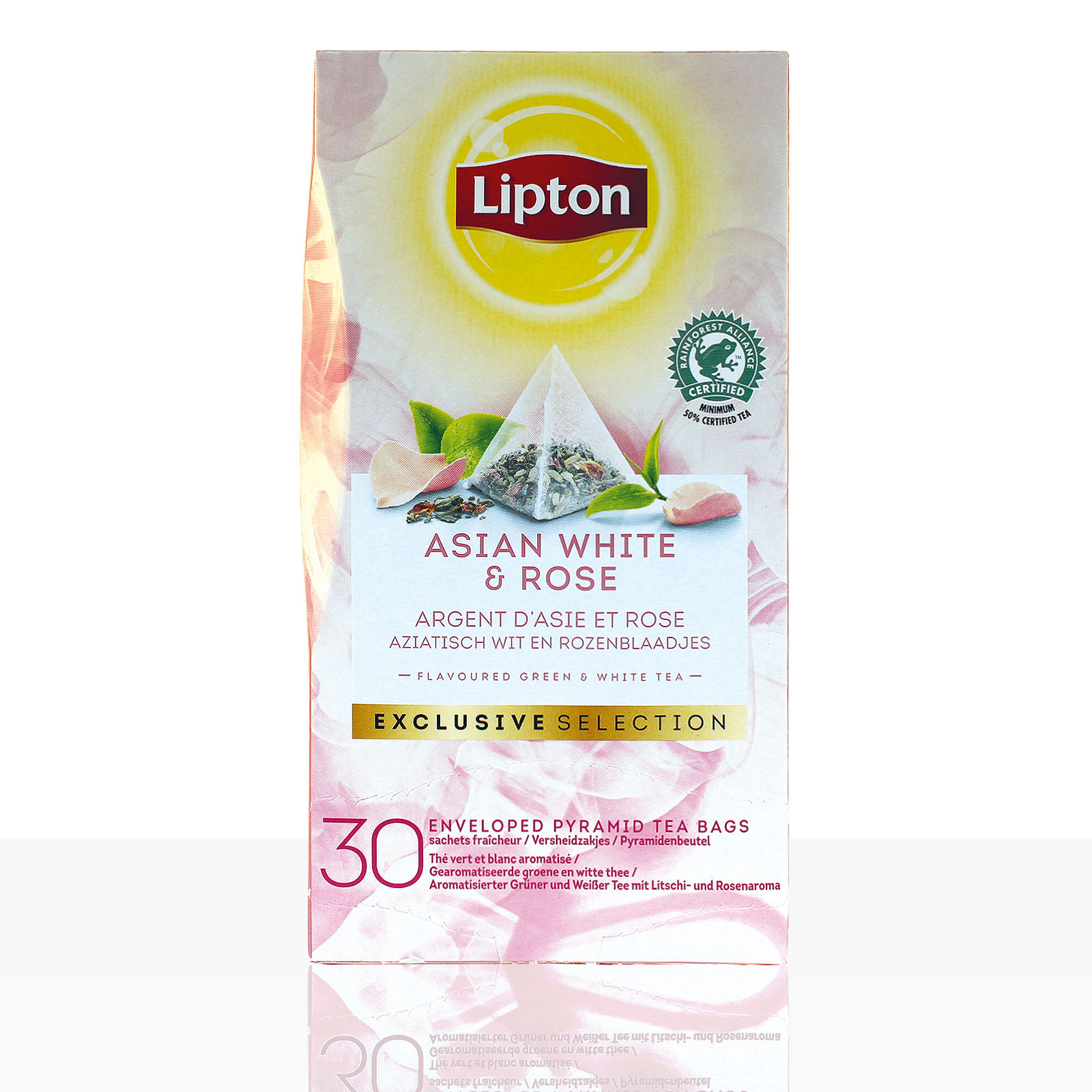 Lipton Tee Exclusive Selection Asian White & Rose 6 x 30 Beutel á 1,6g