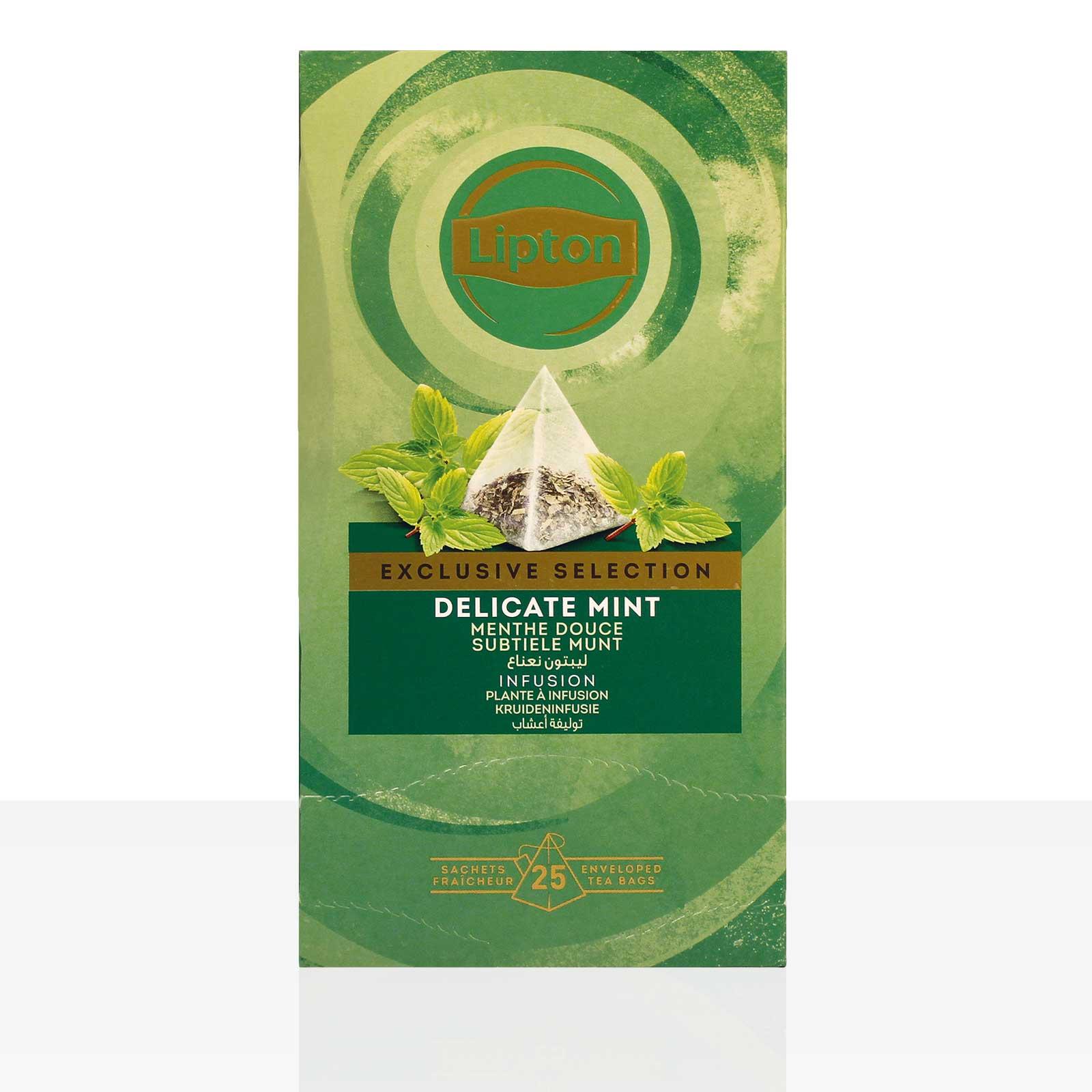 Lipton Tee Exclusive Selection Delicate Mint Pfefferminze 6 x 25 Beutel á 1,1g
