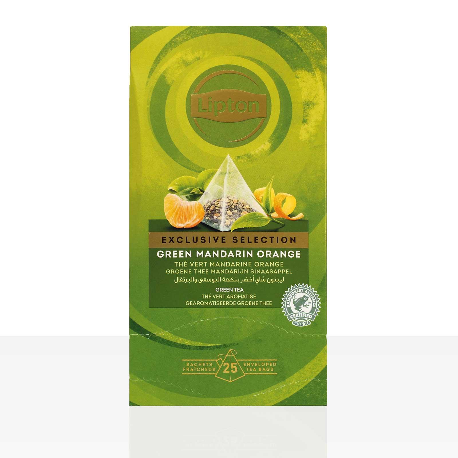 Lipton Tee Exclusive Selection Green Tea Mandarin Orange 25 x 1,8g