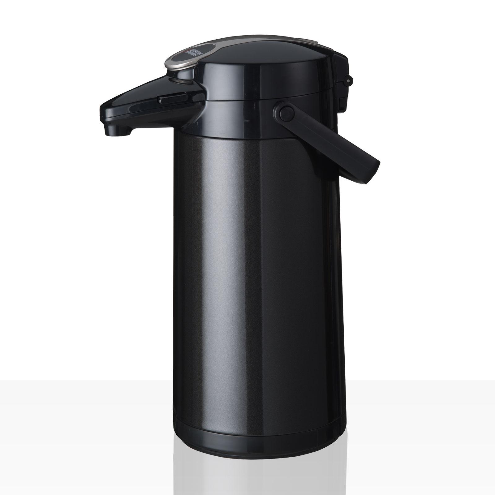 Bonamat Airpot Furento Pumpkanne 2,2l für TH - Edelstahlinnenzylinder Metallic Schwarz