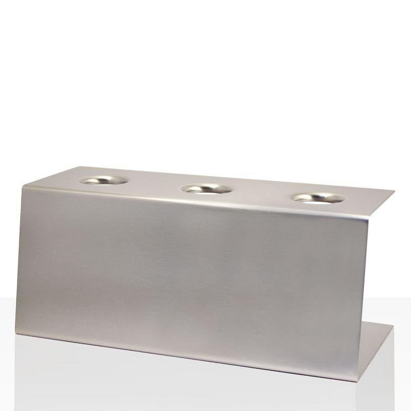 Stöckel Eishörnchen-Halter Edelstahl 3 Löcher, Ø 26 mm, Eis-Tütenhalter