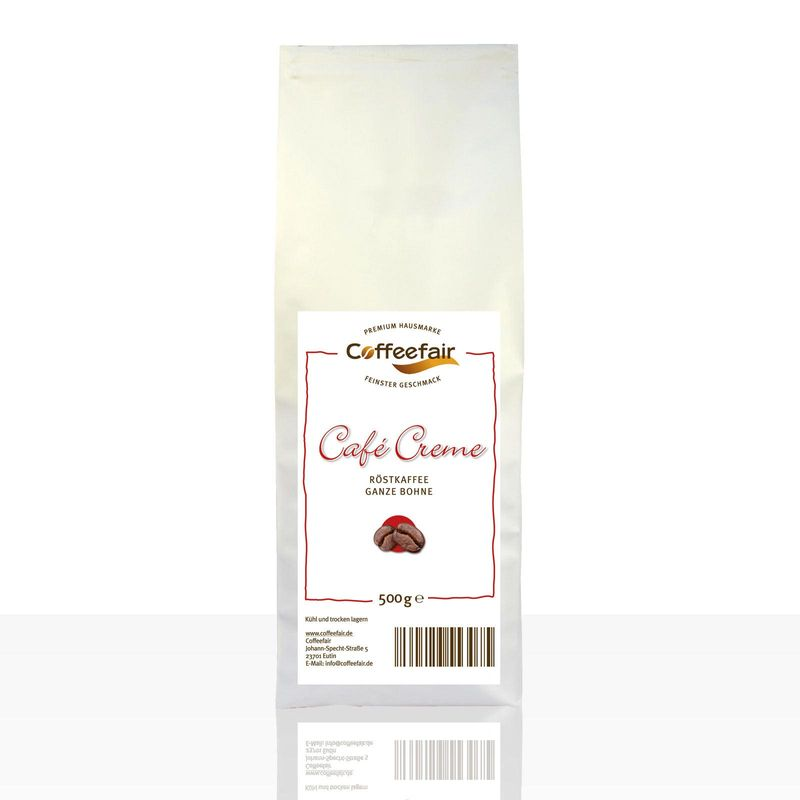 Coffeefair Cafe Creme 500g ganze Kaffee-Bohnen Barista Qualität
