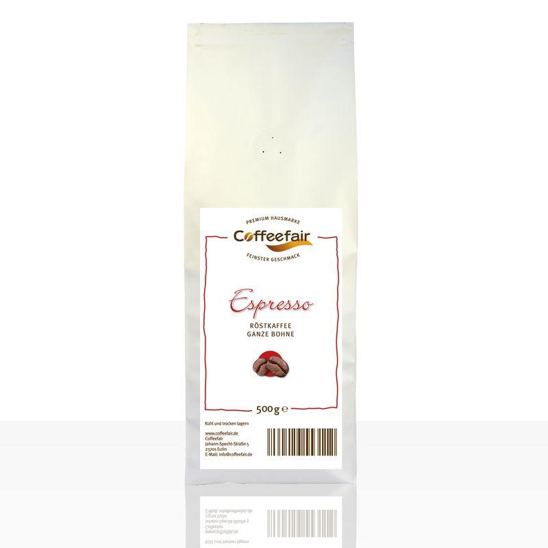 Coffeefair Espresso 500g ganze Kaffee-Bohnen Barista Qualität
