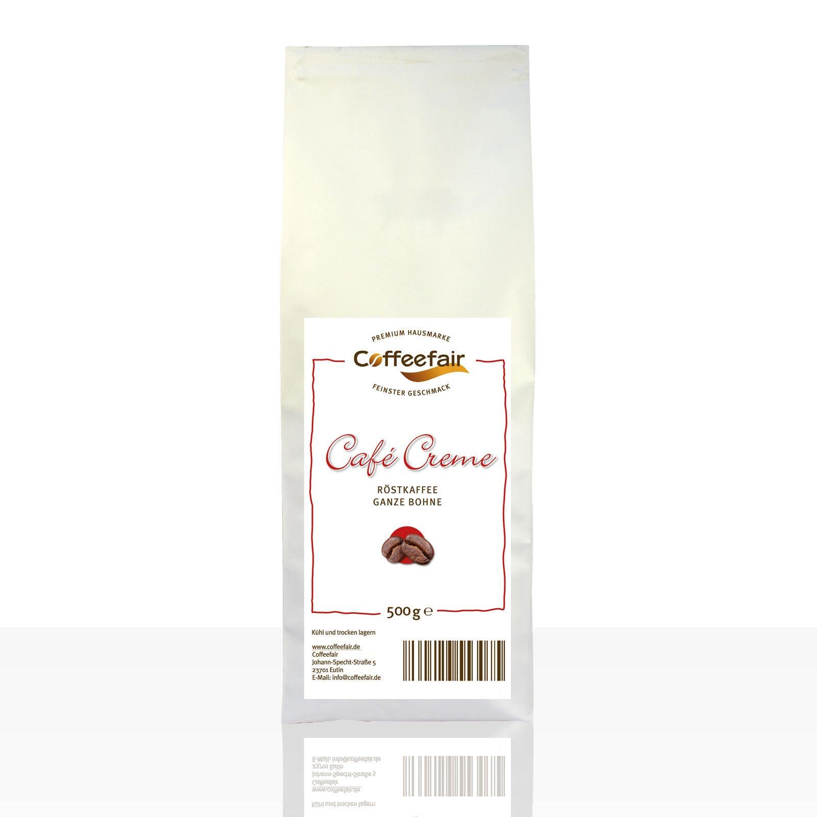 Coffeefair Cafe Creme 8 x 500g ganze Kaffee-Bohnen Barista Qualität
