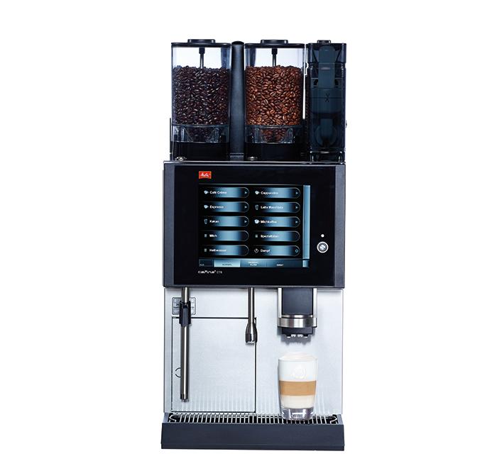 Melitta Cafina CT8 Kaffeevollautomat, 1 Mühle, Instant, Milchschäumersystem