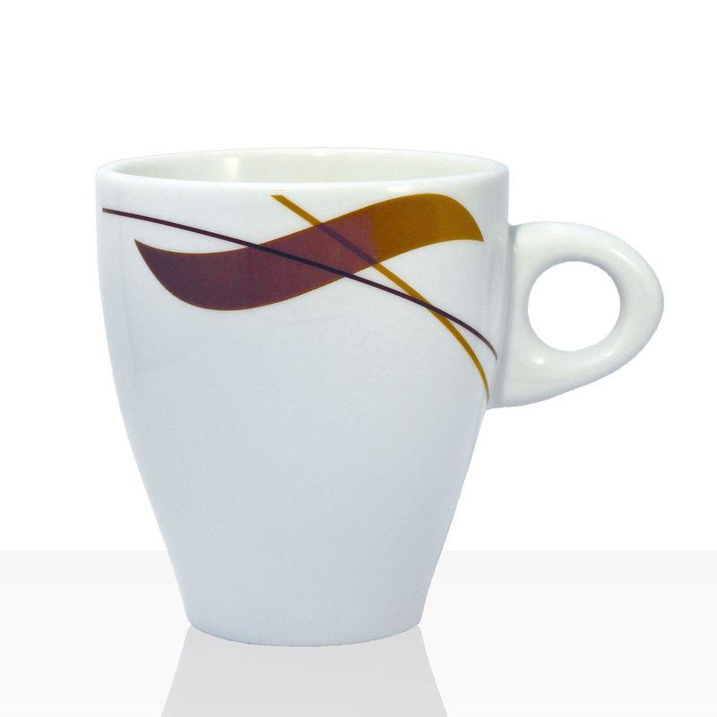 Coffeefair Kaffee-Geschirr - Milchkaffee-Tasse im edlen Design, 370ml