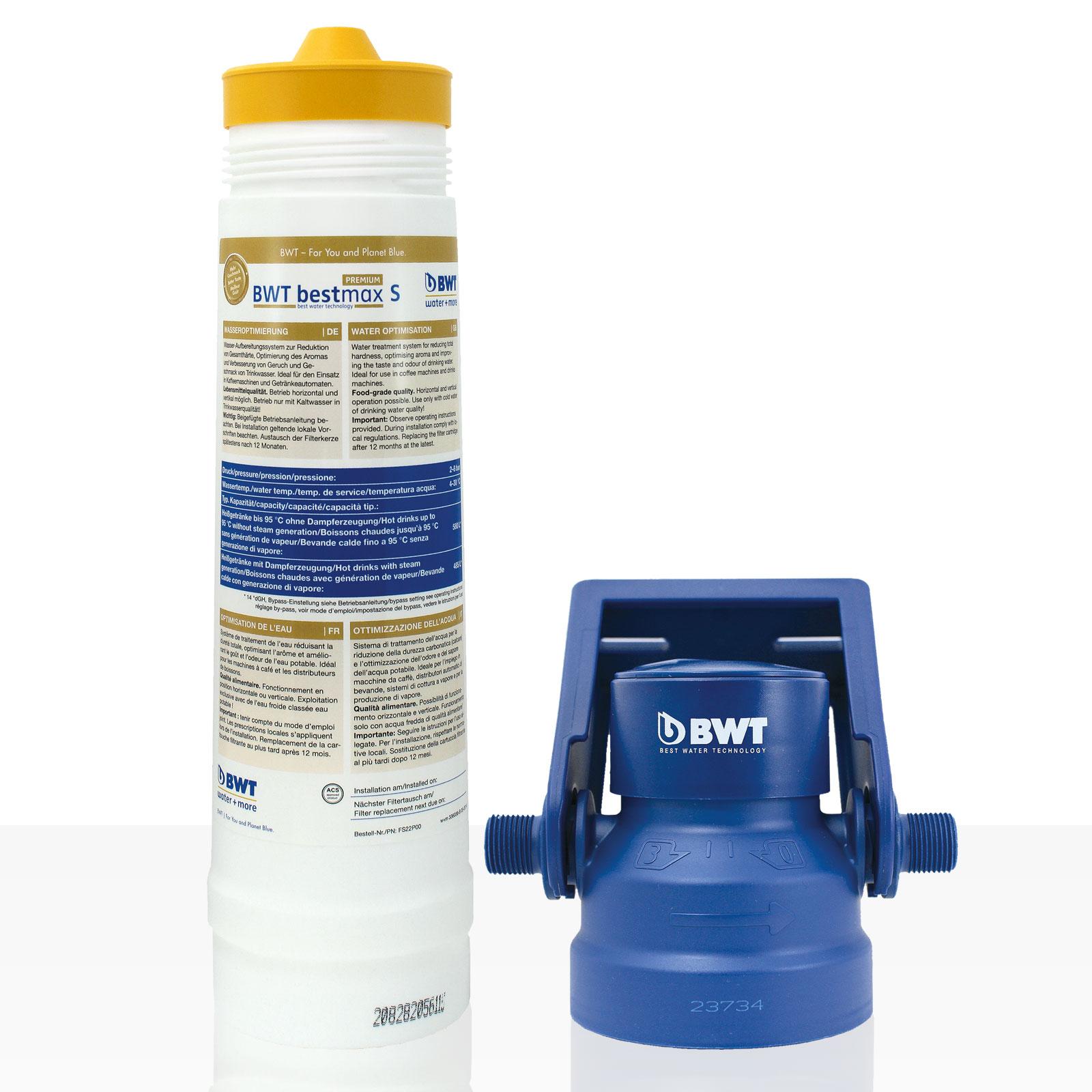 Bestmax S Premium Filterset water + more Wasserfilter, BWT Set inkl. Filterkopf