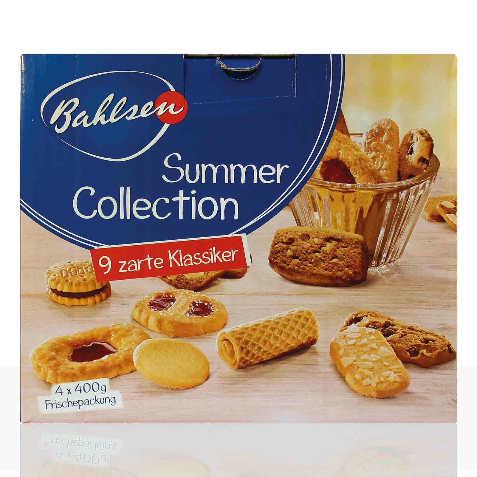 Bahlsen Summer Collection Gebäck-Mix 4 x 400g Serviersets mit 9 Sorten