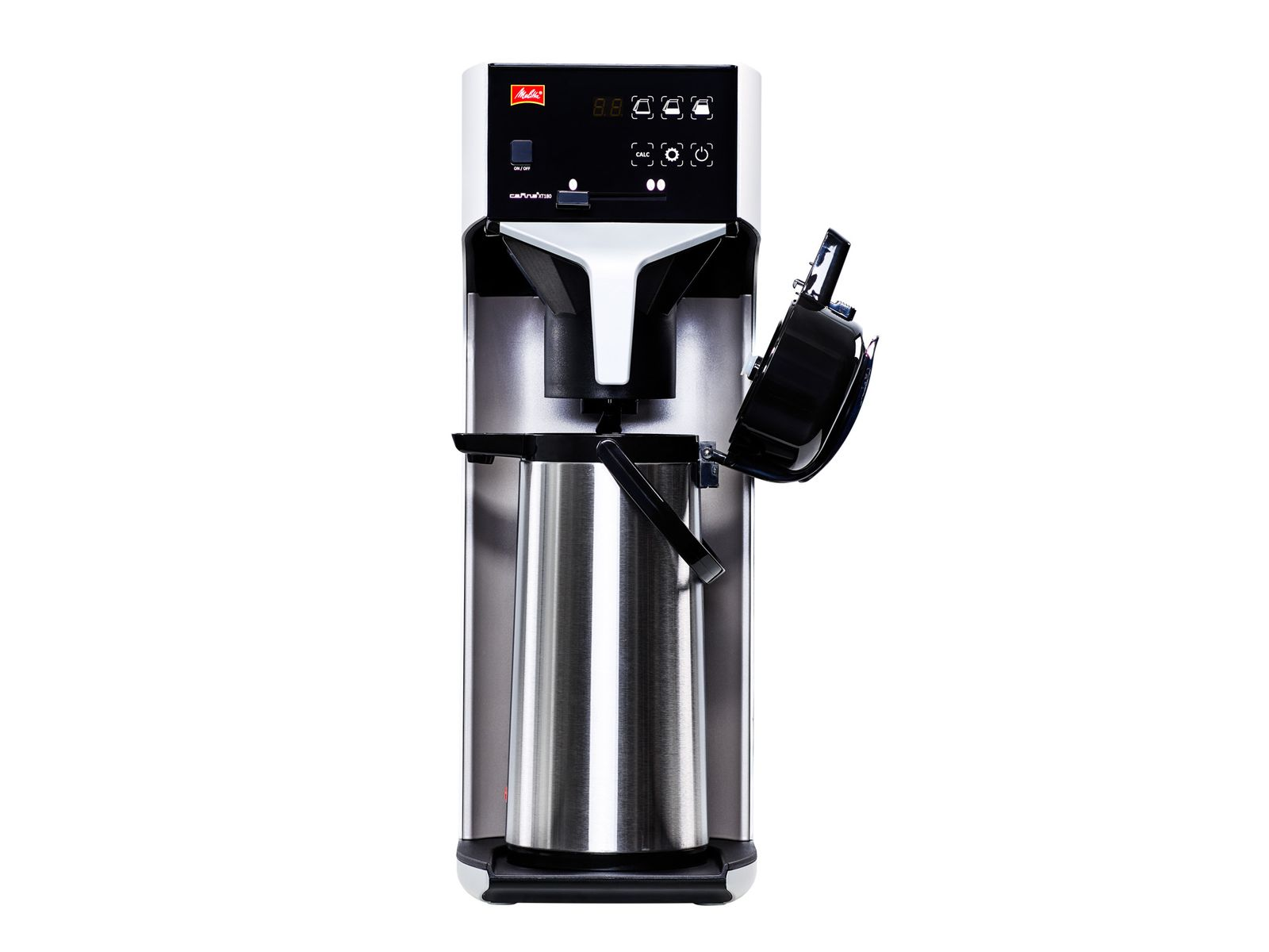Melitta Cafina XT180 TWC Filter-Kaffeemaschine Festwasser inkl. Kanne 2,2 mit Edelstahlkolben