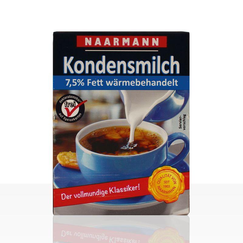 Naarmann Kondensmilch 7,5% Fett, Tetra Pack 20 x 340g