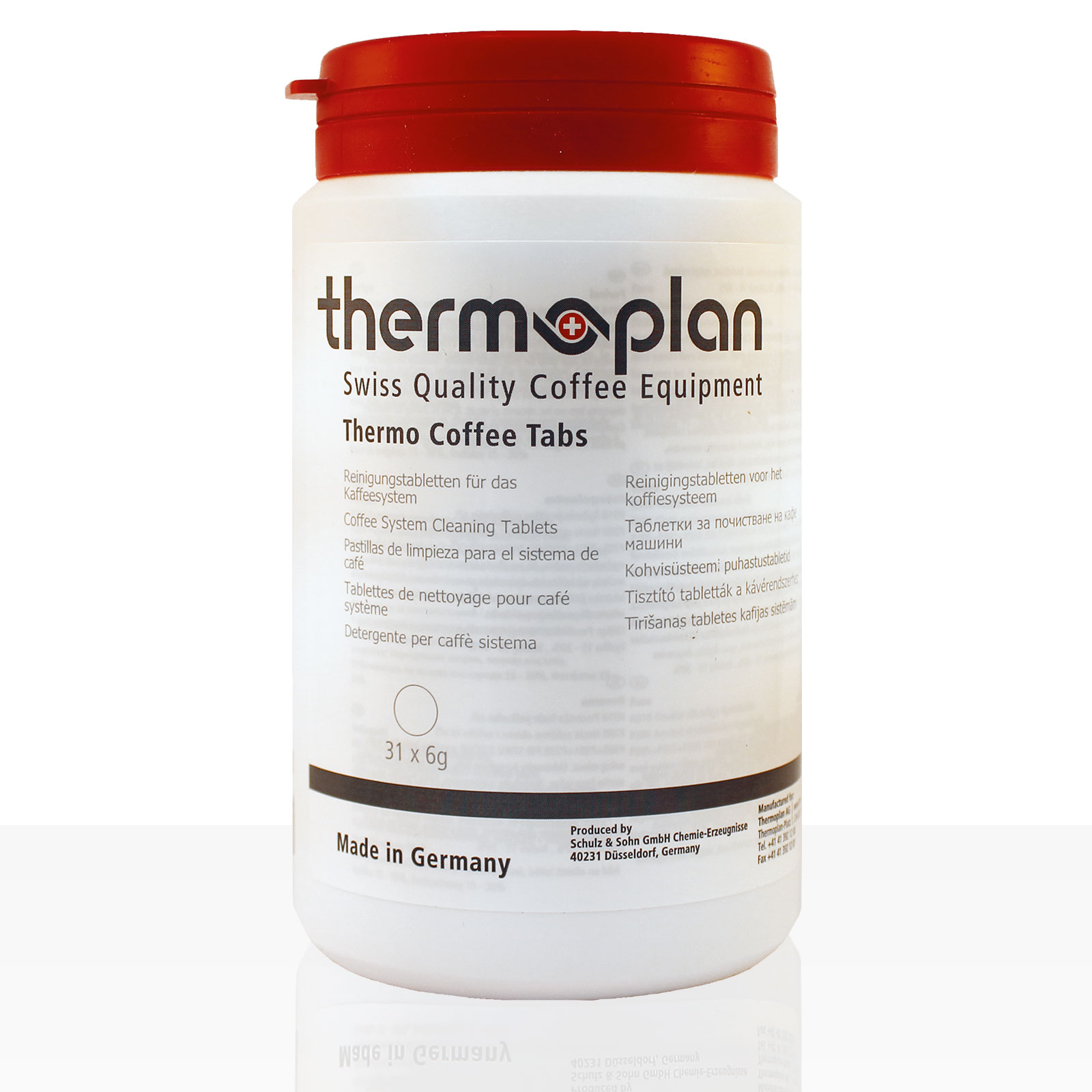 Thermoplan Reinigungstabletten für Black & White 4c, 31 x 6g