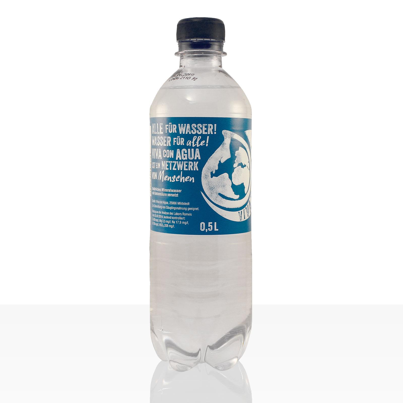 viva con agua mineralwasser laut pet flasche 0 5l mit kohlens ure 1 stk inkl pfand weiteres. Black Bedroom Furniture Sets. Home Design Ideas