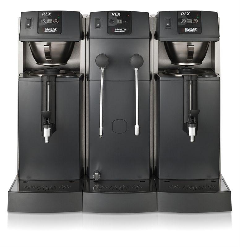Bonamat Kaffeemaschine RLX 585 mit 2 Kaffeebrühsystemen, 2 Behältern mit Schauglas, Heißwasser und Heißwasserdampf