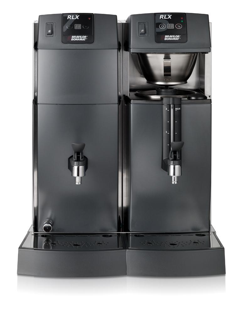 Bonamat Büffet Kaffeemaschine RLX 75 mit 1 Brühsystem, Behälter mit Schauglas und Heißwasser 400V
