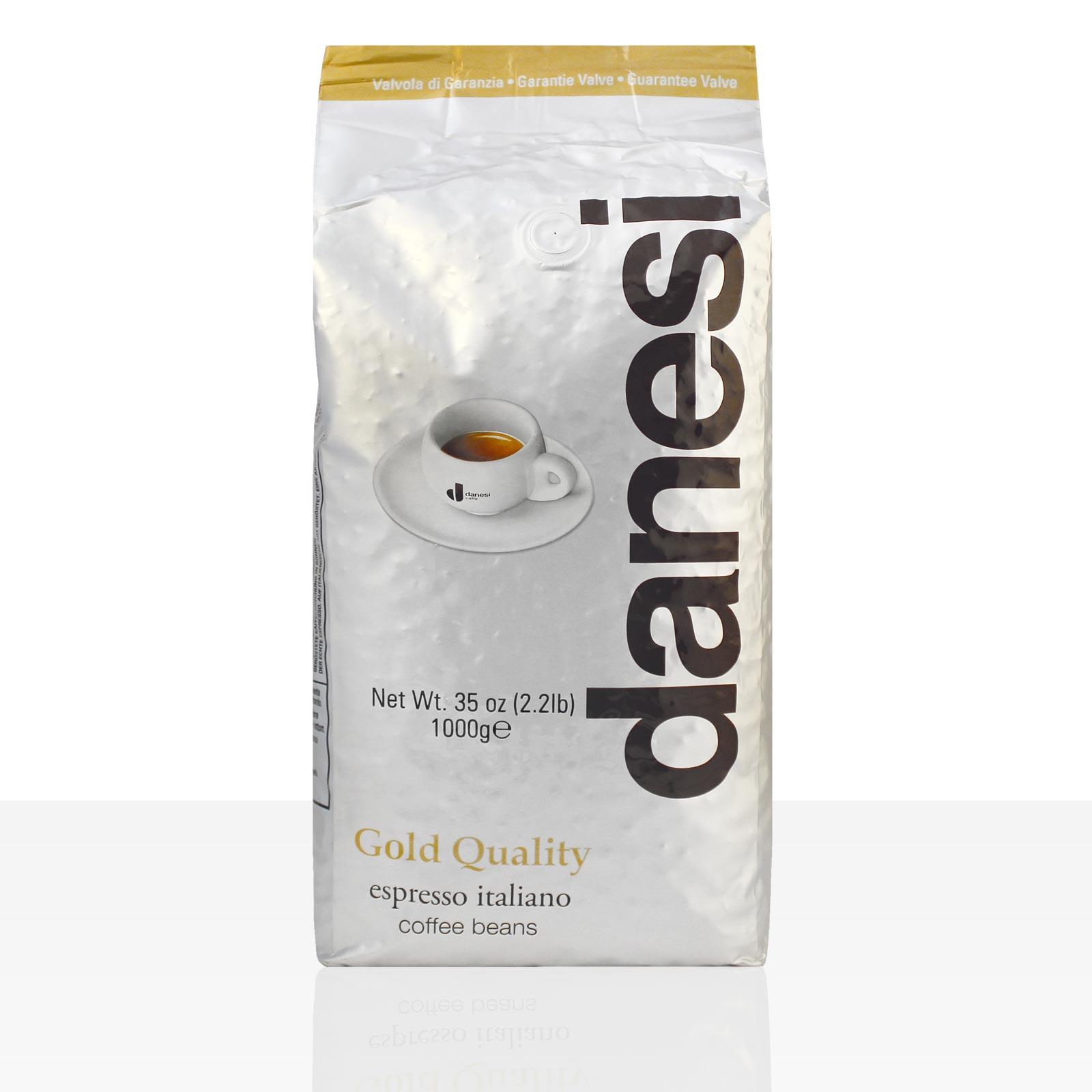 Danesi Caffe Oro Espresso 1kg ganze Bohne, Gold Quality, 100% Arabica