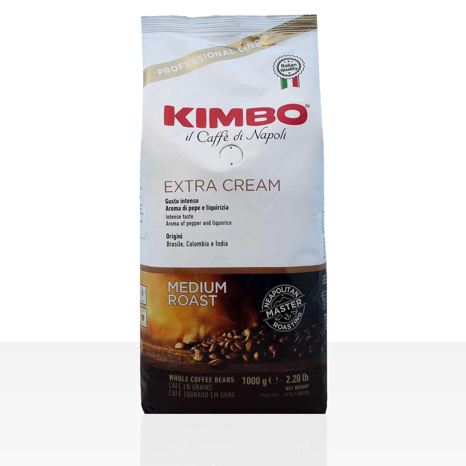Kimbo Espresso Bar Extra Cream 6 x 1kg Kaffee ganze Bohne