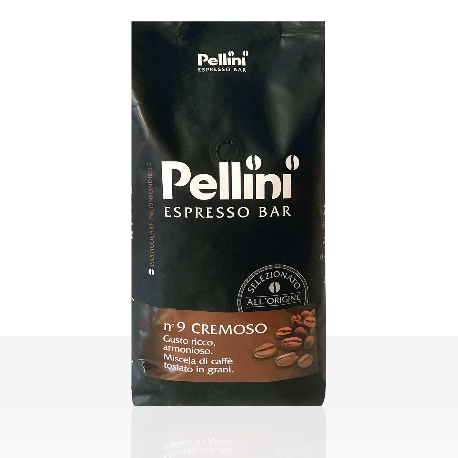 Pellini Espresso Bar N° 9 Cremoso 6 x 1kg Kaffee ganze Bohne