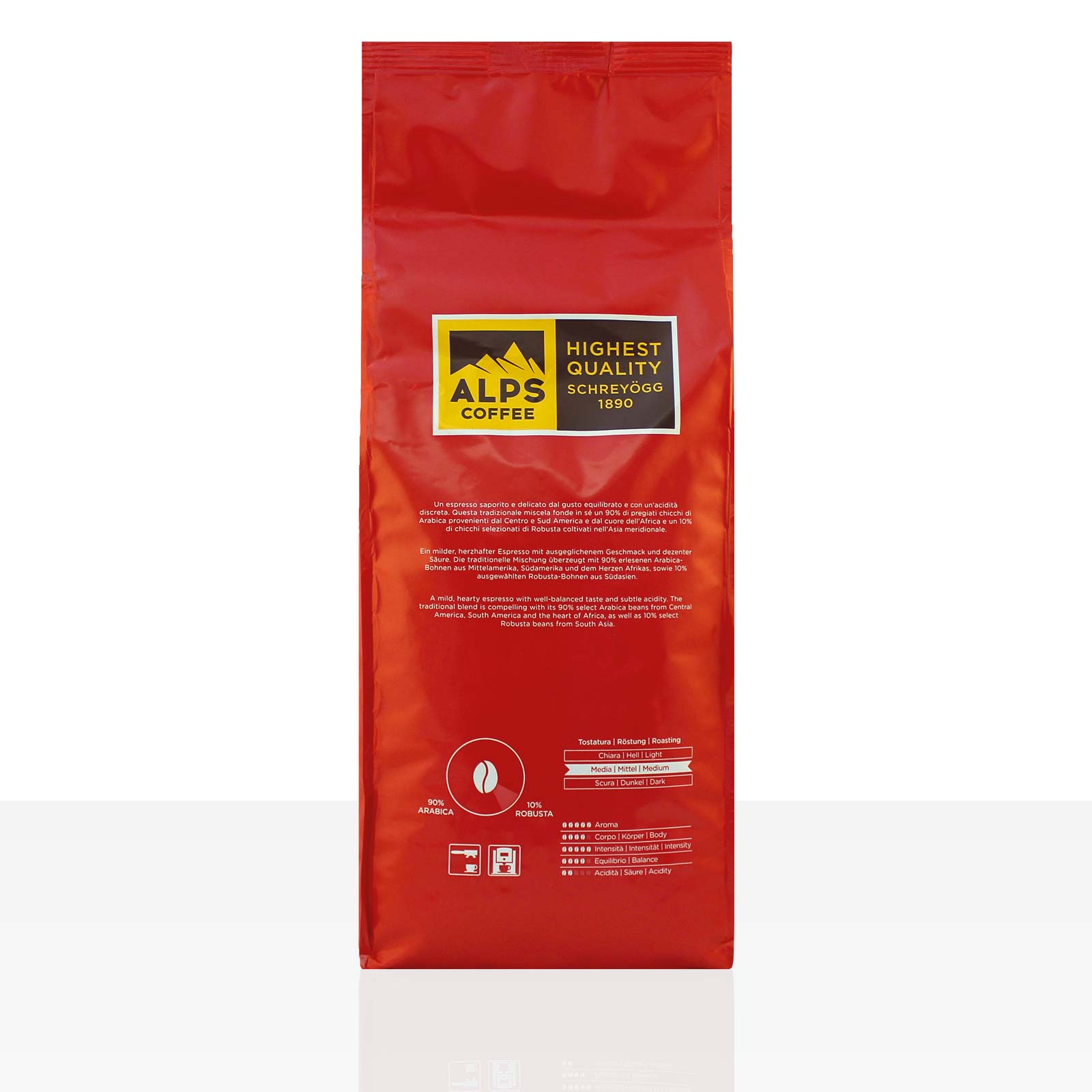 Schreyögg EXQUISIT Espresso 10 x 1kg ganze Bohne