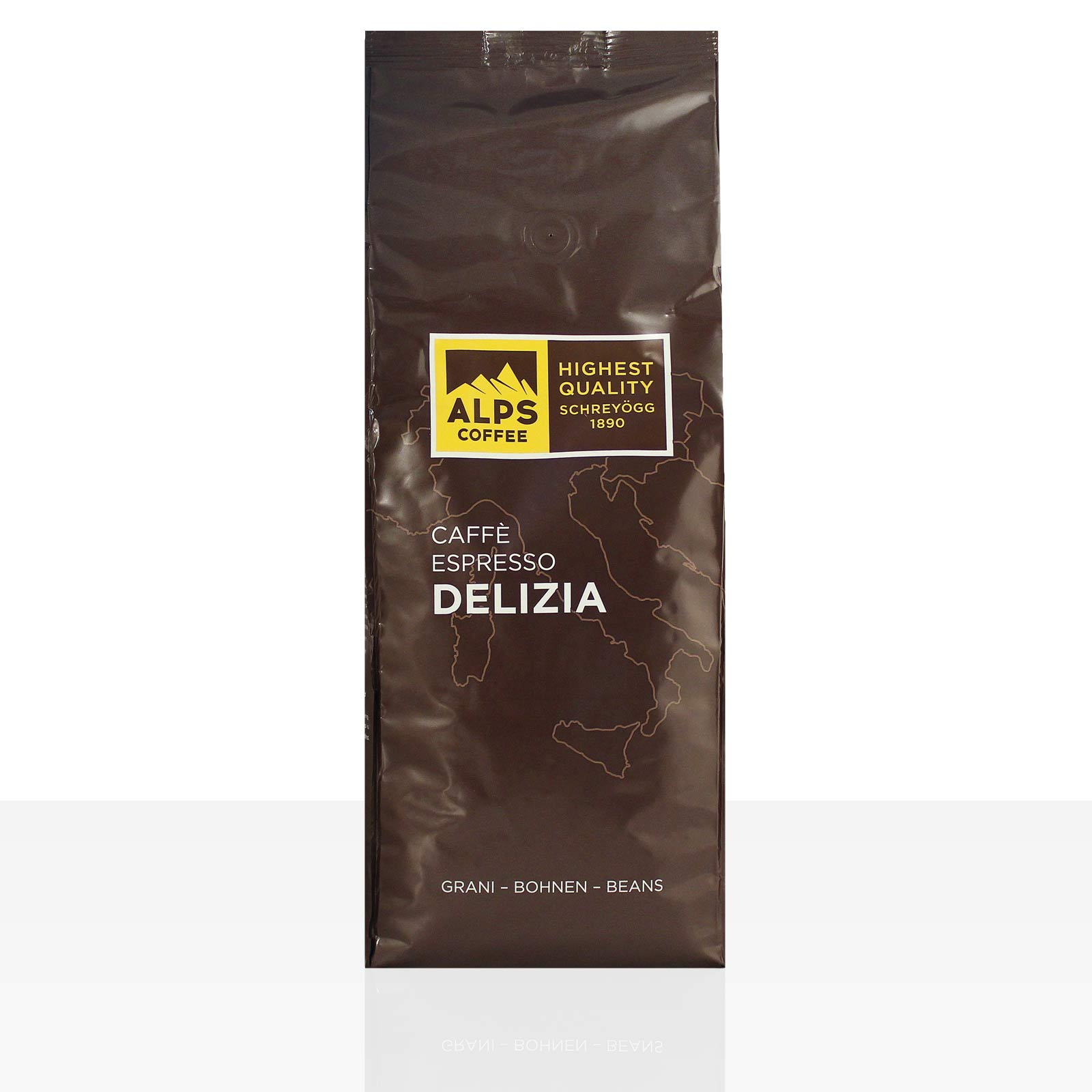 Schreyögg Caffe Espresso Delizia 1kg Kaffee ganze Bohne
