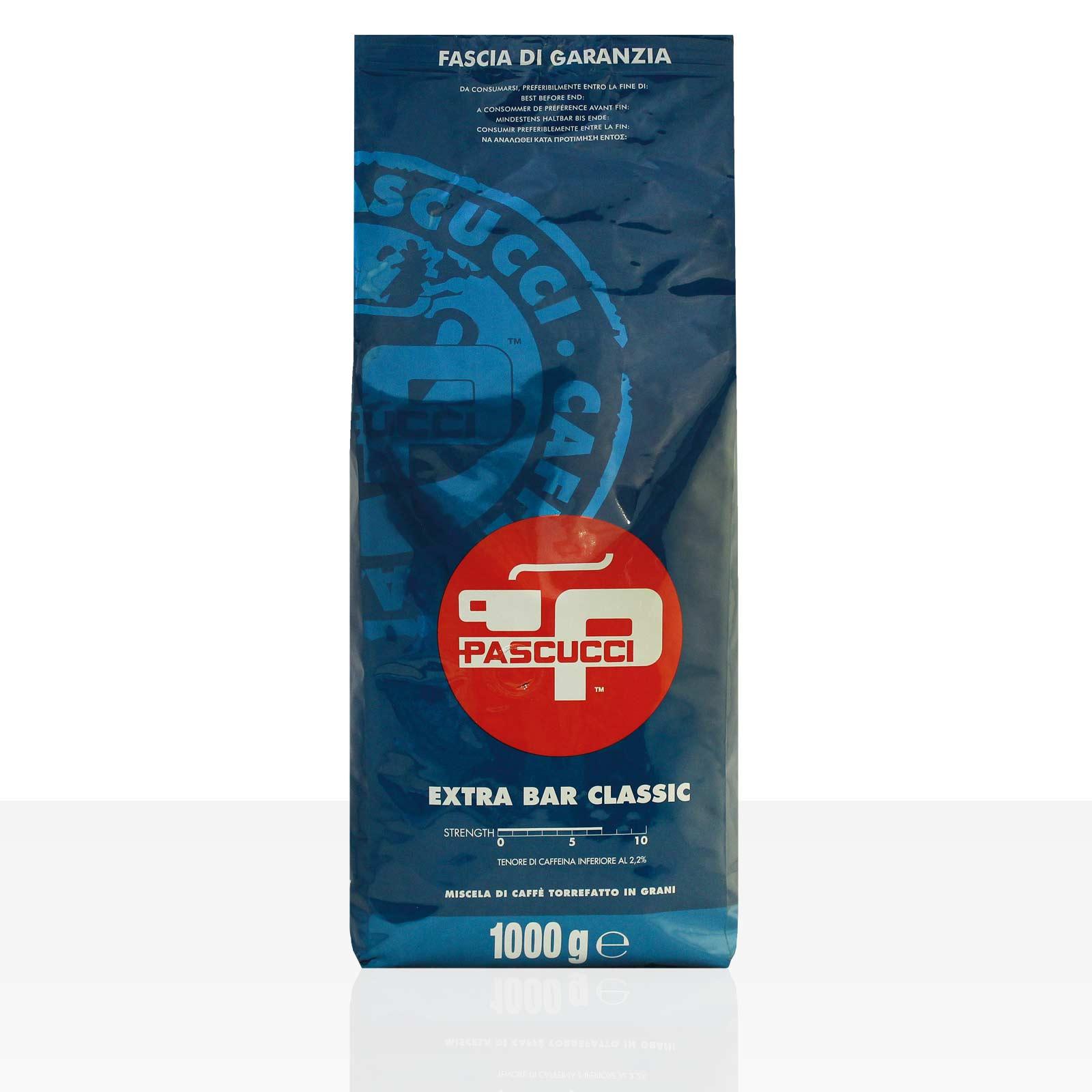 PASCUCCI Extra Bar Classic Espresso 8 x 1kg Kaffee ganze Bohne