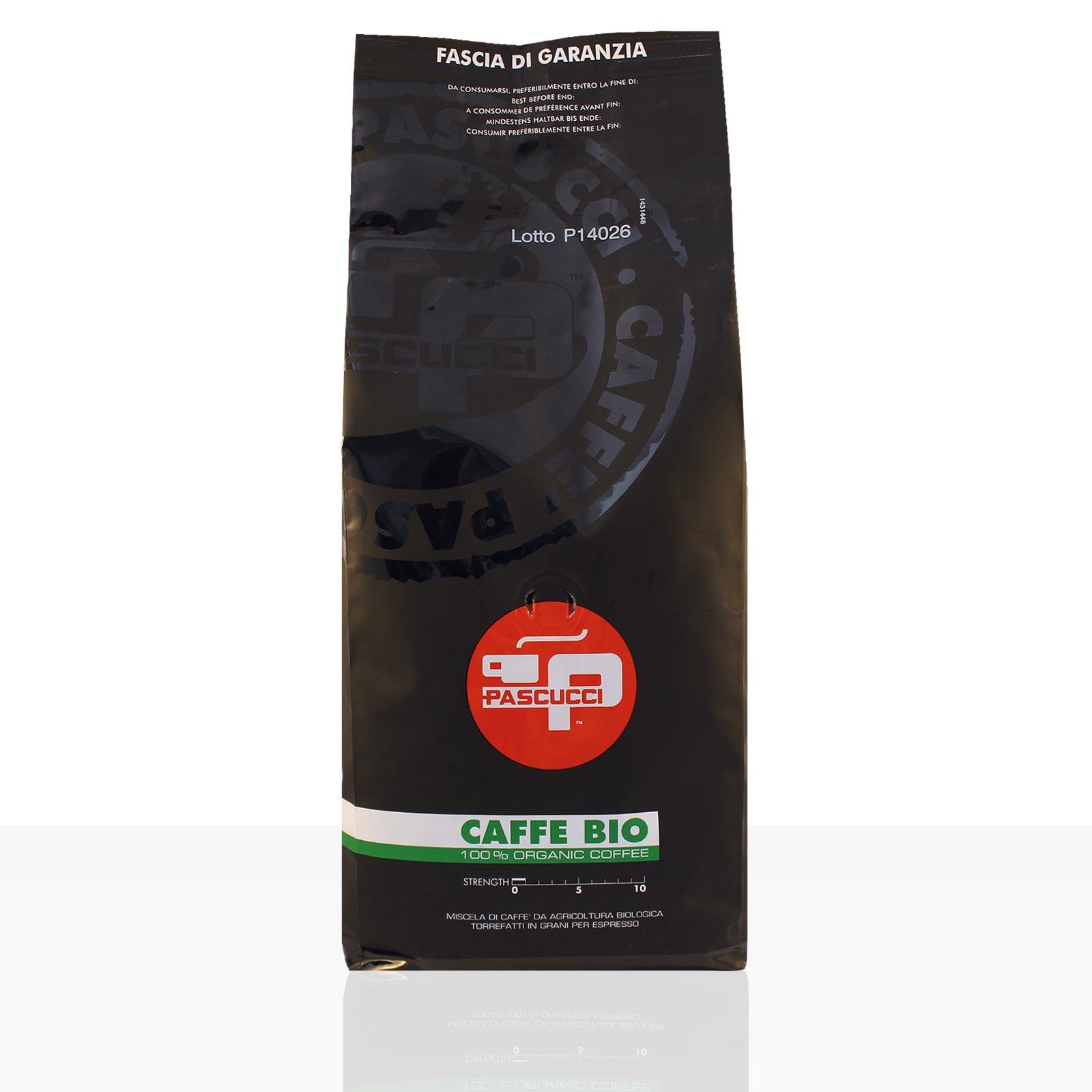 PASCUCCI Caffe BIO Espresso 1kg Espressobohnen, 100% Arabica