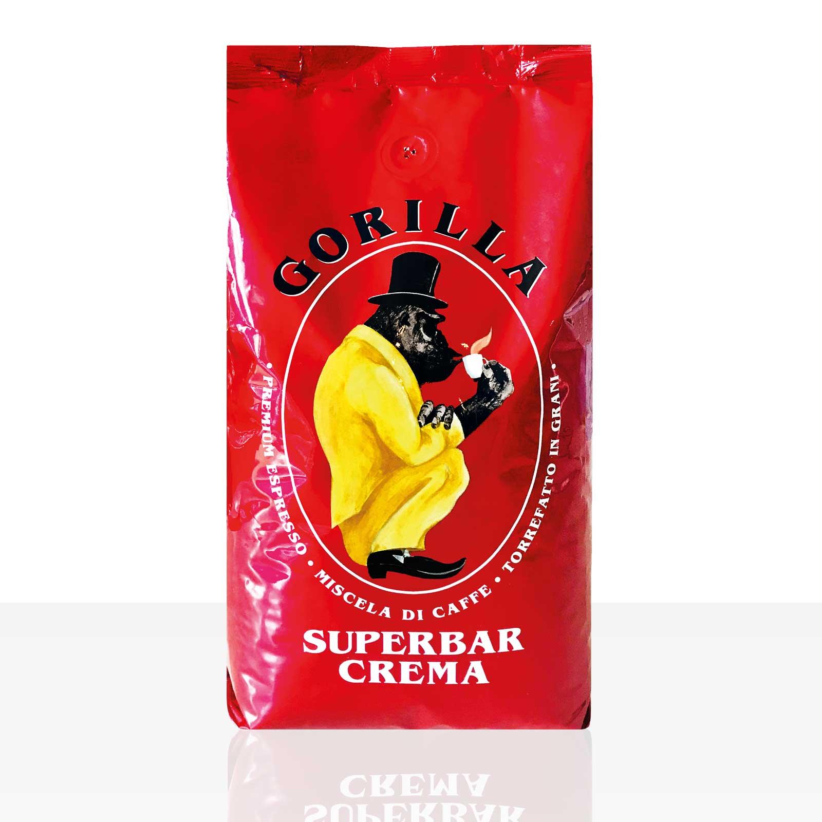 Gorilla Espresso Super Bar Crema 1kg, Kaffee ganze Bohne