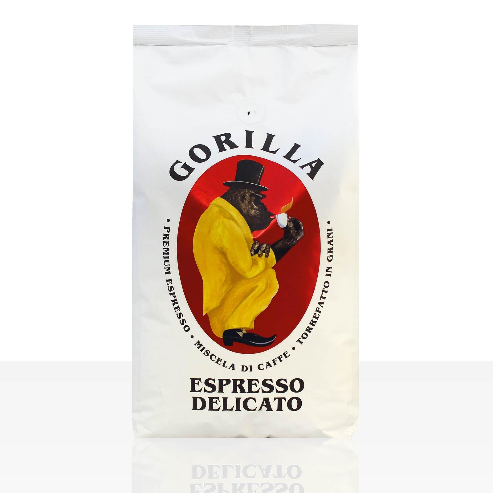 Gorilla Espresso Delicato 12 x 1kg Kaffee ganze Bohne