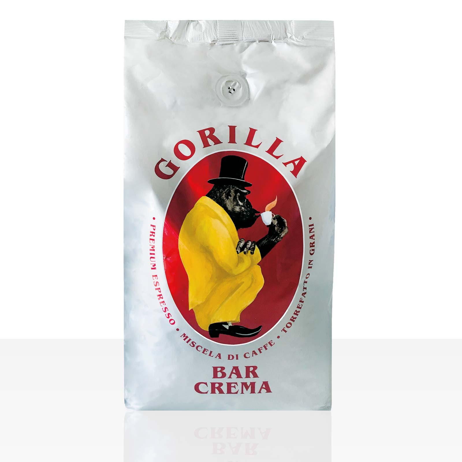 Gorilla Espresso Bar Crema 1kg Kaffee ganze Bohne