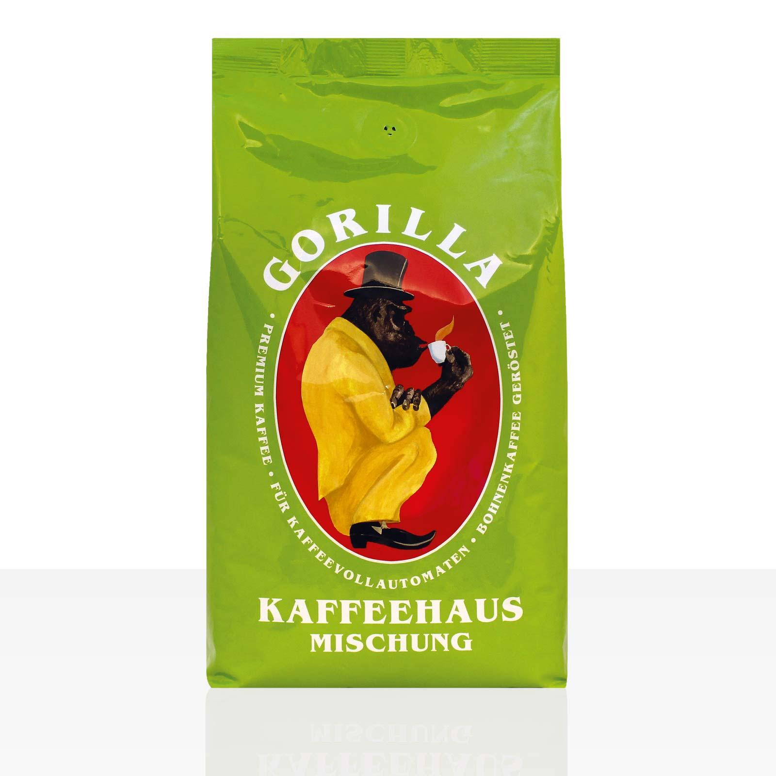 Gorilla Kaffeehaus 1kg Kaffee ganze Bohne