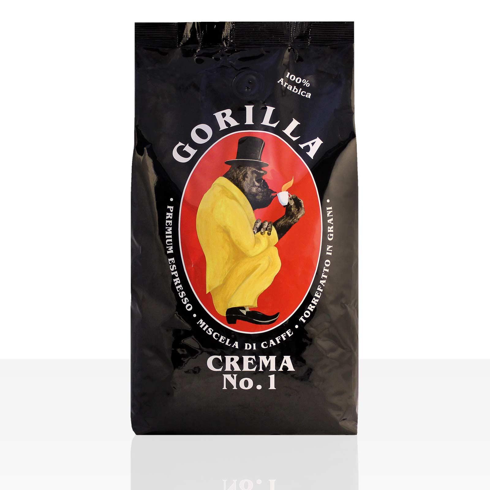 Gorilla Espresso Crema N° 1 Kaffee 1kg ganze Bohne, 100% Arabica