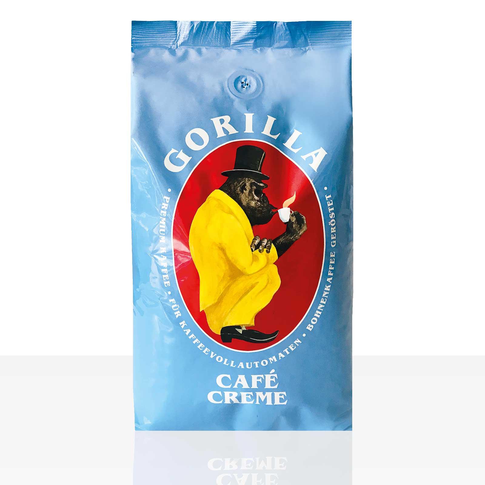 Gorilla Cafe Creme Kaffee 1kg ganze Bohne