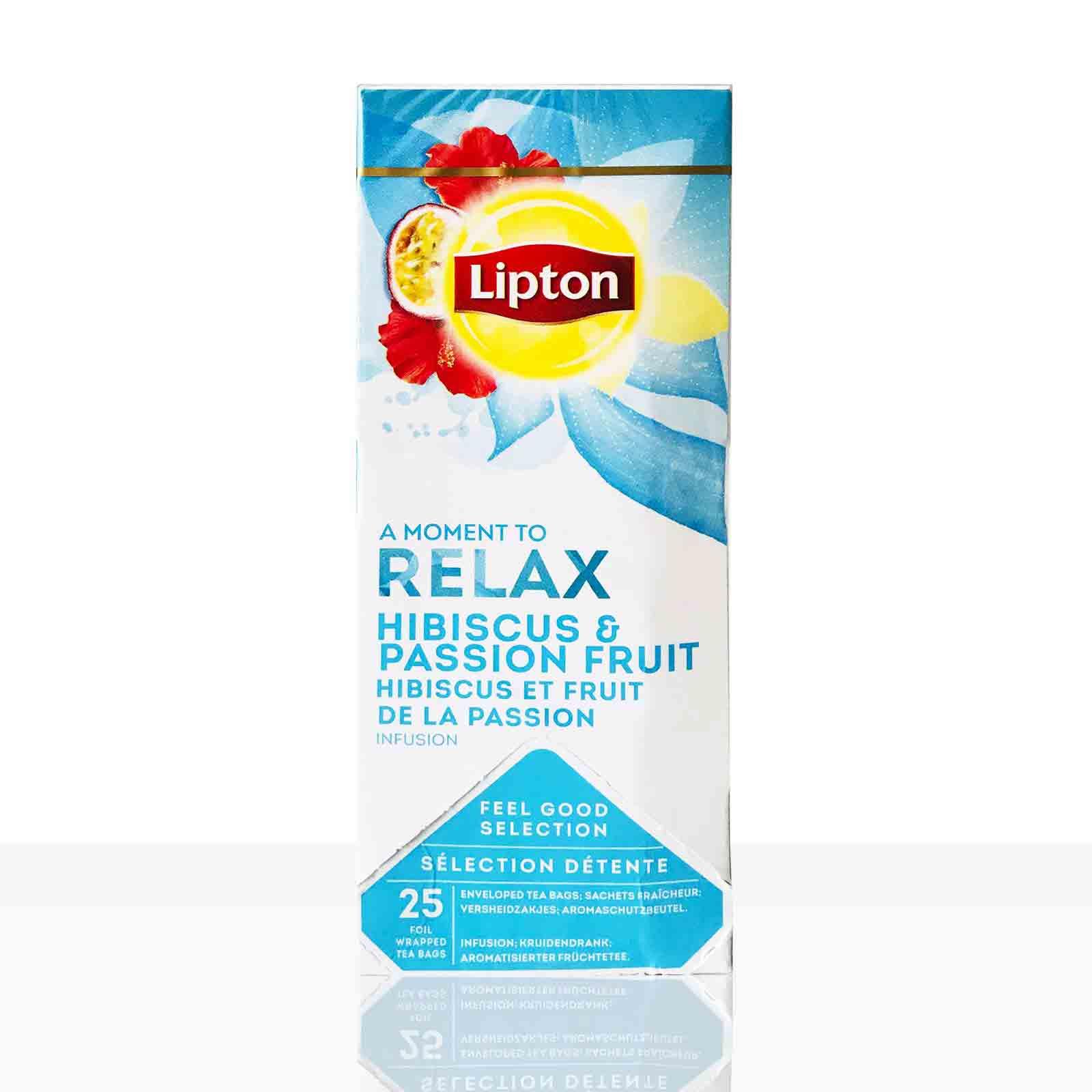 Lipton Tee Classic Relax Hibiskus-Passionsfrucht 25 x 2,5g