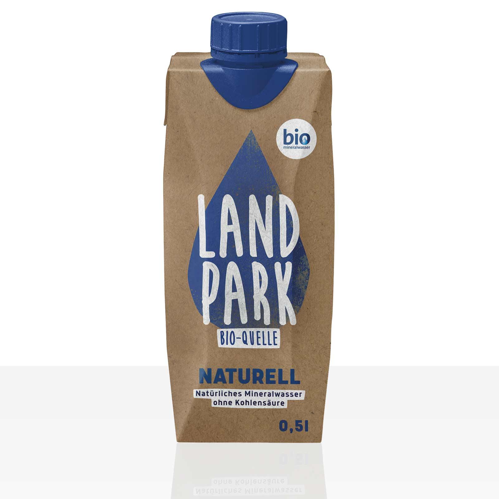 Landpark Bio-Quelle Naturell Mineralwasser still 0,5l, Pfandfrei