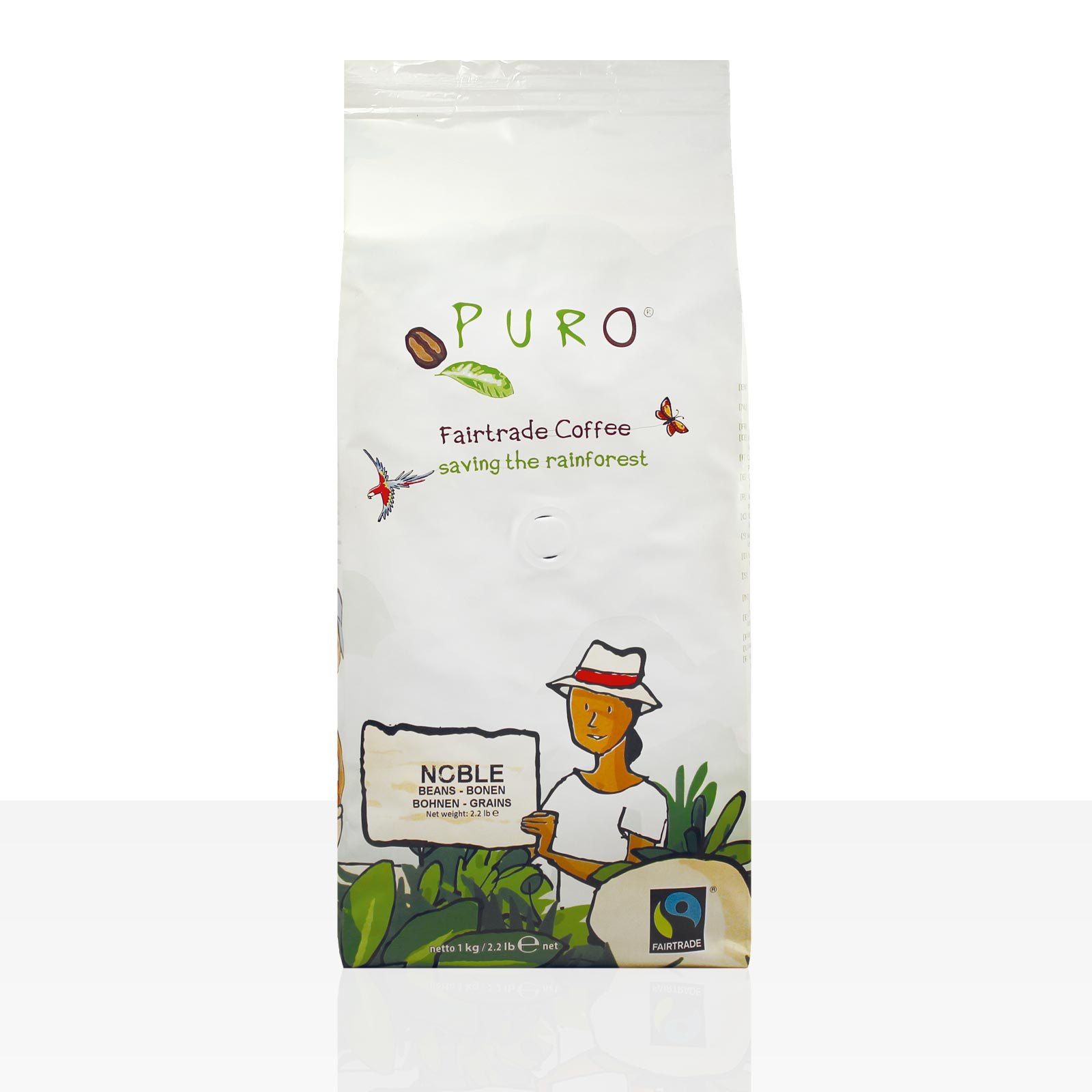 Miko Puro Noble Fairtrade - 1kg Crema ganze Kaffee-Bohne