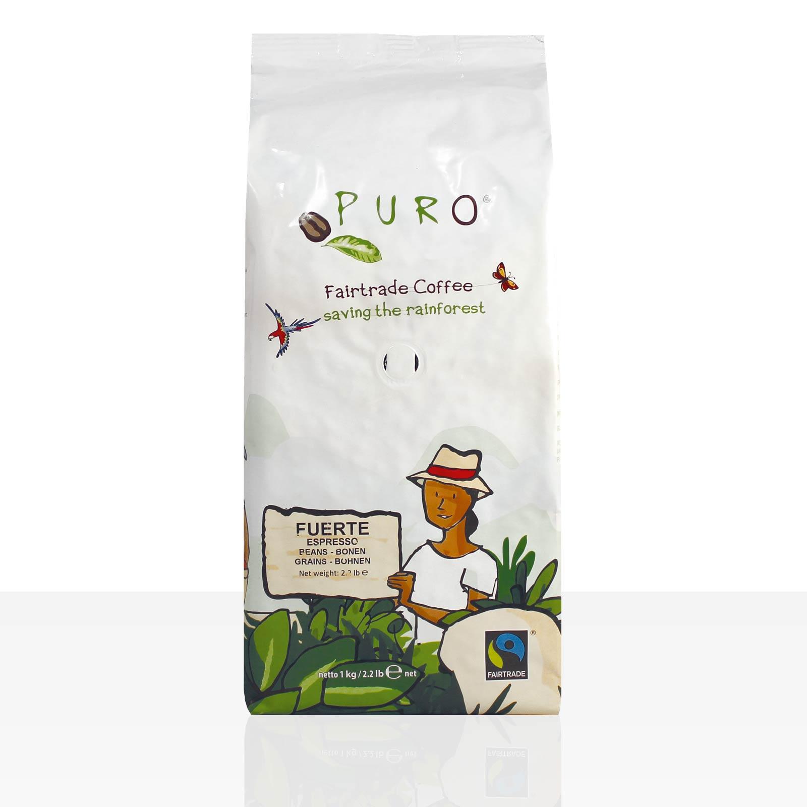 Miko Puro Fairtrade Fuerte 9 x 1kg Espresso ganze Bohne