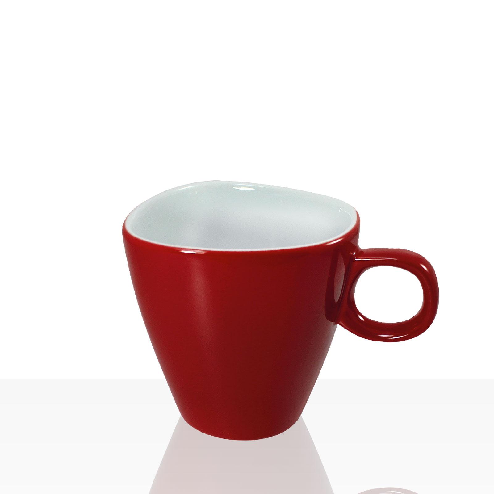 alfredo walk re cappuccino tasse mit untertasse 6 stk rot weiteres geschirr aus porzellan und glas. Black Bedroom Furniture Sets. Home Design Ideas