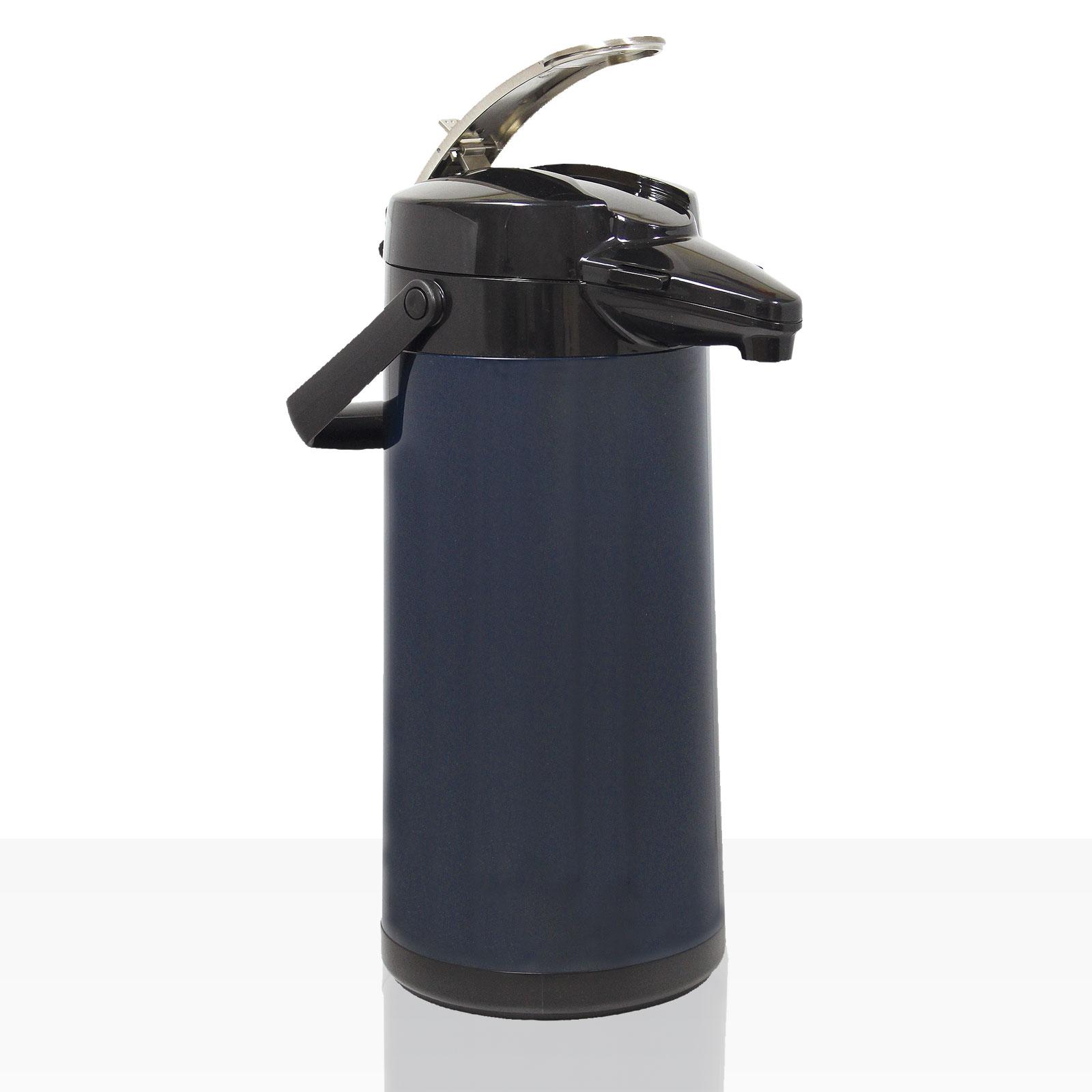 Bonamat Airpot Furento Pumpkanne 2,2l für TH - Glaseinsatz Matt Blau